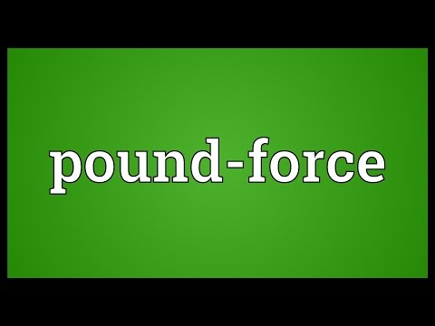Pound-force Meaning