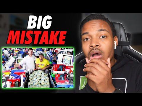 Reacting To MrBeast Spending One Million Dollar Winner 24hrs   Scam