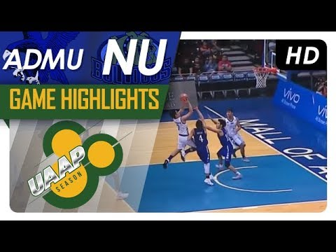 UAAP 80 MEN'S BASKETBALL ROUND 2: NU vs ADMU Game Highlights - October 18, 2017