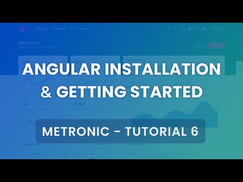 Angular 8 Installation & Getting Started Tutorial #6 - Metronic Admin Theme thumbnail