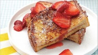 French Toast With Peanut Butter - Quick And Easy Recipe For Father's Day