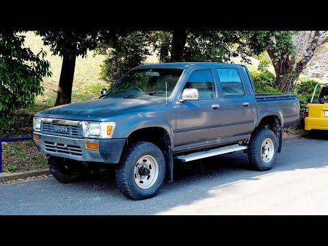 1991 Toyota Hilux Pickup Double Cab Diesel 4x4 (USA Import) Japan Auction Purchase Review