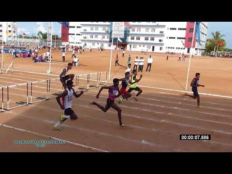 BOY'S U19  110m HURDLES  FINAL. 60th TAMILNADU STATE REPUBLIC DAY SPORTS MEET-2017-18