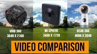 Xiaomi Mi Sphere vs Gear 360 2017 vs  VIRB 360 : Video Comparison