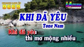 Karaoke - Khi Đã Yêu | Tone Nam | Nhạc sống trước 1975 | Beat Keyboard Long Ẩn