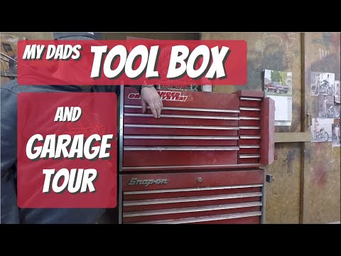 80's Snap On Tool Box Tour and Shop Tour