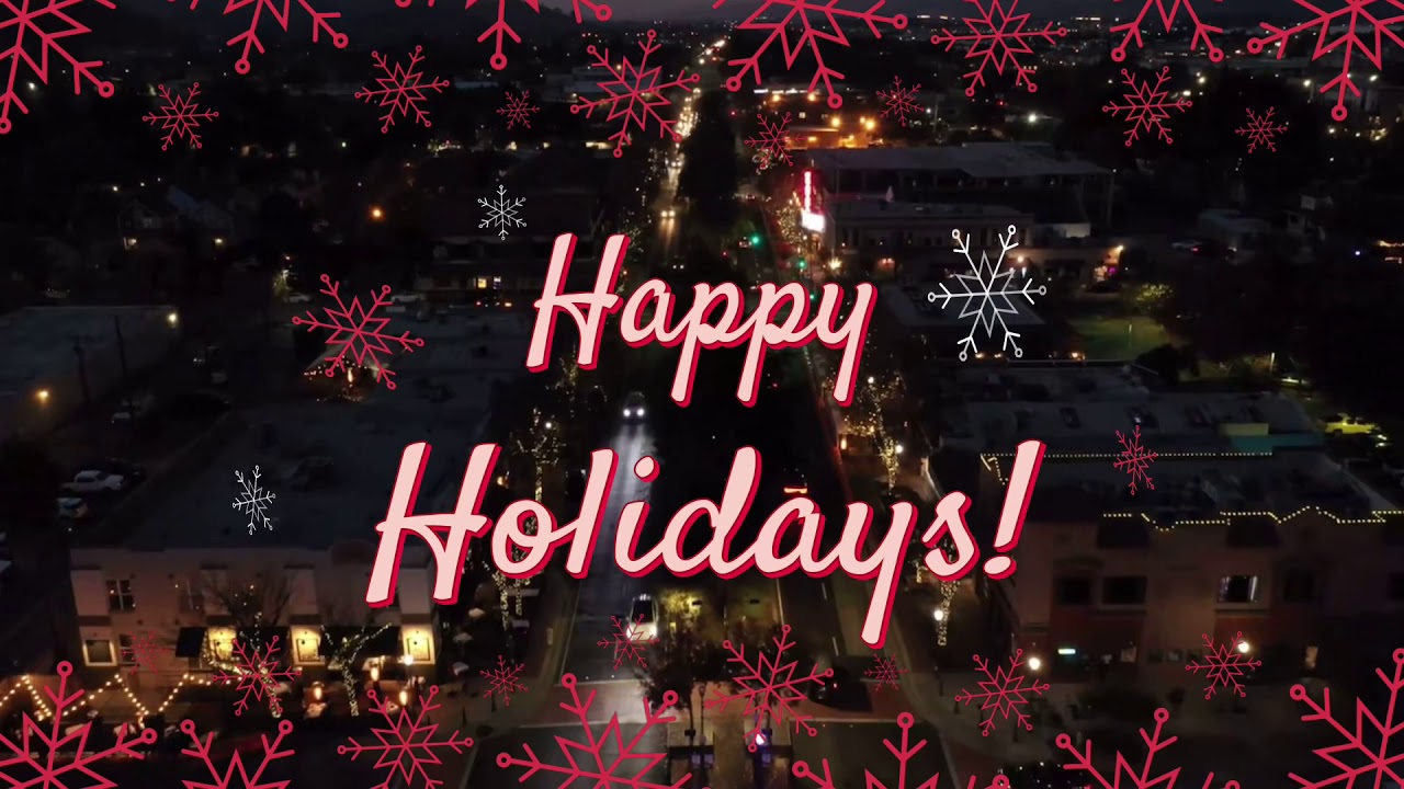Happy Holidays from the Morgan Hill Downtown Association