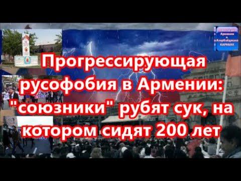 Прогрессирующая русофобия в Армении  союзники  рубят сук, на котором сидят 200 лет