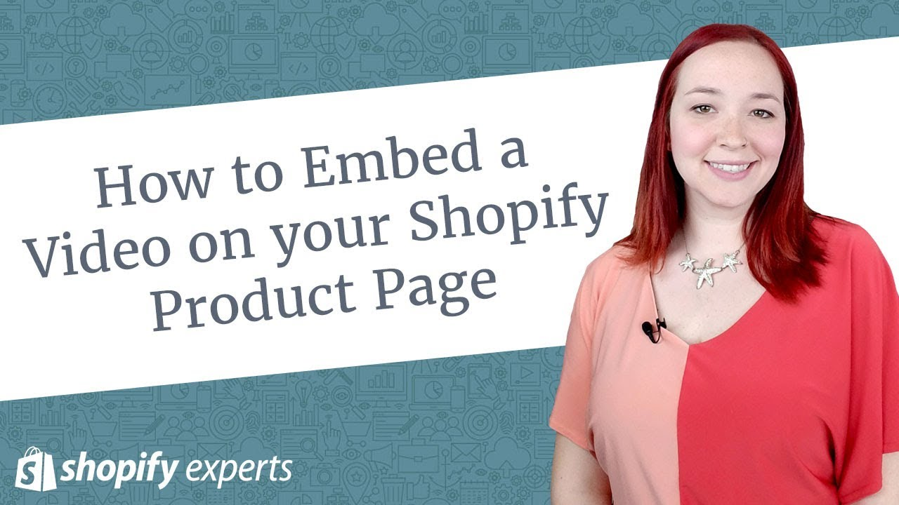 How to Embed a Video on your Shopify Product Page - YouTube