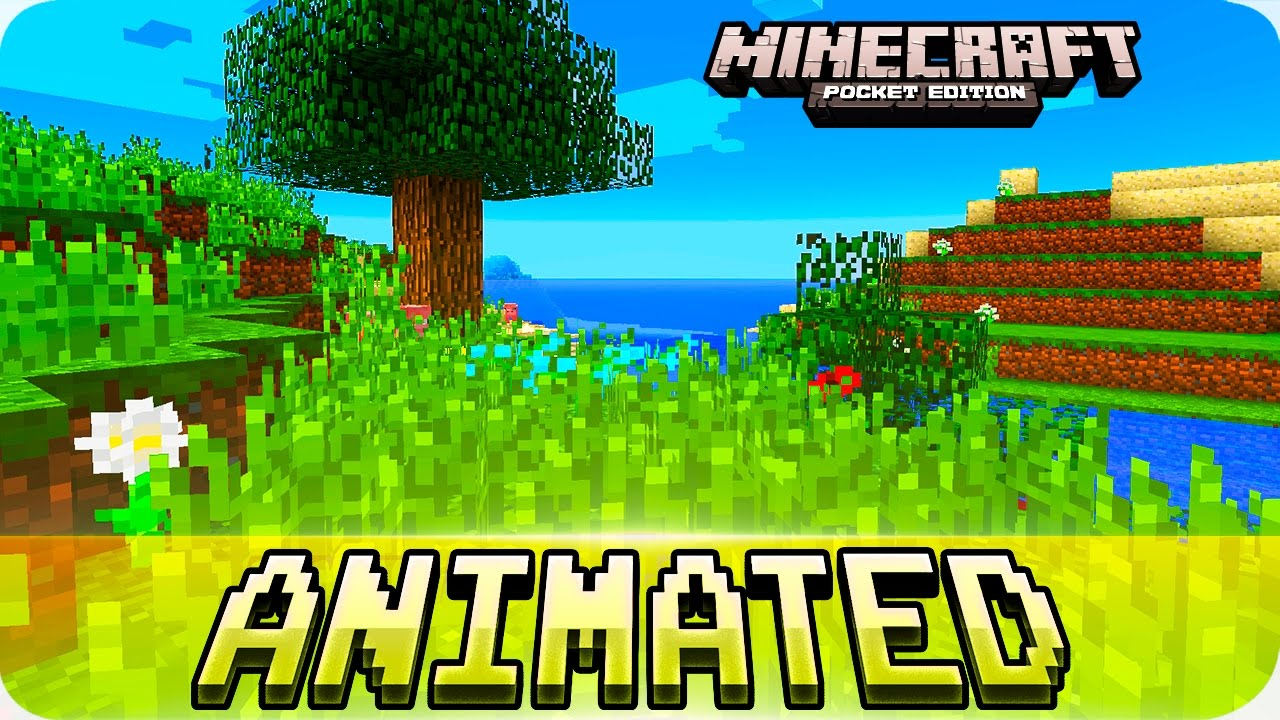 Minecraft Pe Textures Animated Blocks Texture Pack For Ios Android Mcpe 1 0 1 0 0 Youtube