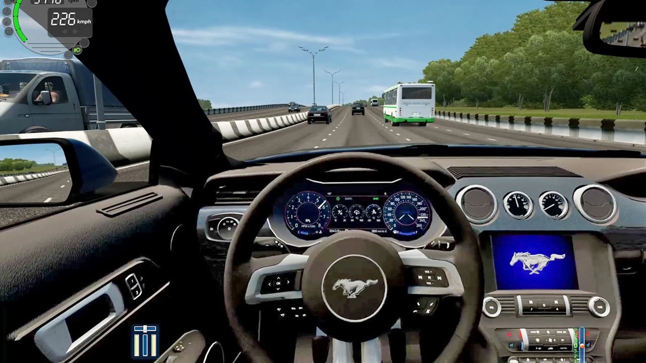 City Car Driving - Ford Mustang GT | Street Racing