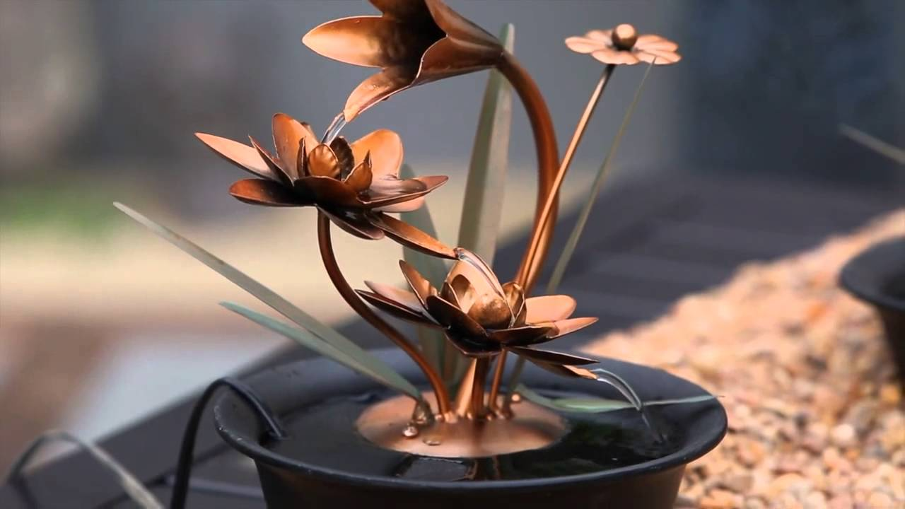 Lotus Wonders Tabletop Fountain 47m369 From Evergreen Garden