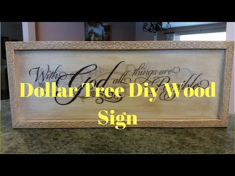 Dollar Tree DIY Wood Sign
