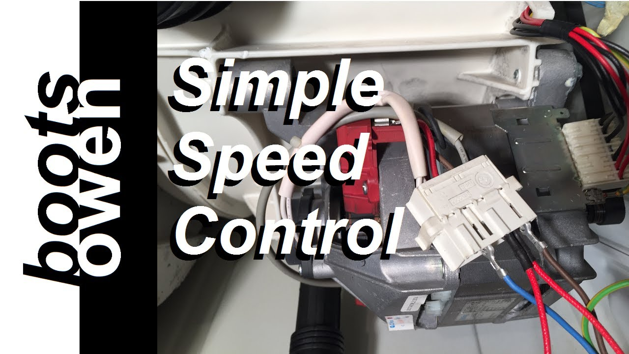 Washing machine universal motor wiring explained on