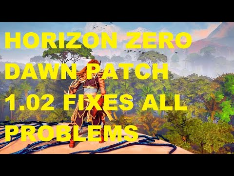 Horizon zero dawn complete edition  Gtx1050 4gb Laptop patch 1.02  details | fixes for lags , crash |