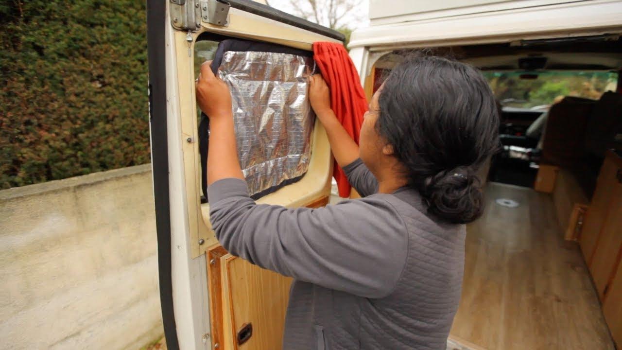 faire des rideaux isolants pour le van tutoriel amenagement du van