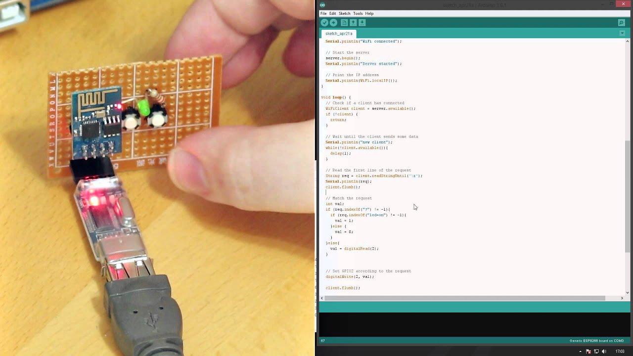 How To Program Esp8266 With Arduino Ide Youtube Usb Wiring Schematics