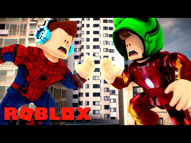 Roblox - HOMEM ARANHA VS HOMEM DE FERRO !! (Roblox Super Hero tycon)