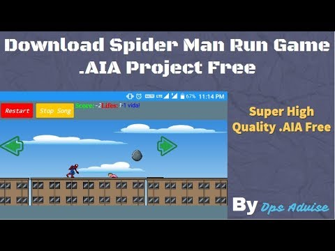 Download Spider man run Game .AIA Project | Best Run Game AIA Of Makeroid | Hindi 2018 | Dps Advise
