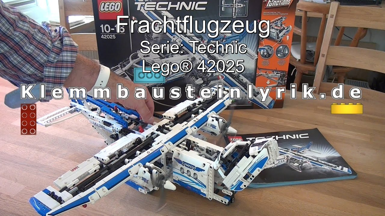test lego frachtflugzeug technic set 42025 cargo plane. Black Bedroom Furniture Sets. Home Design Ideas