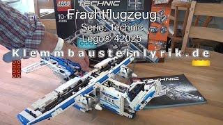 Test Lego Frachtflugzeug (Technic Set 42025 Cargo Plane)