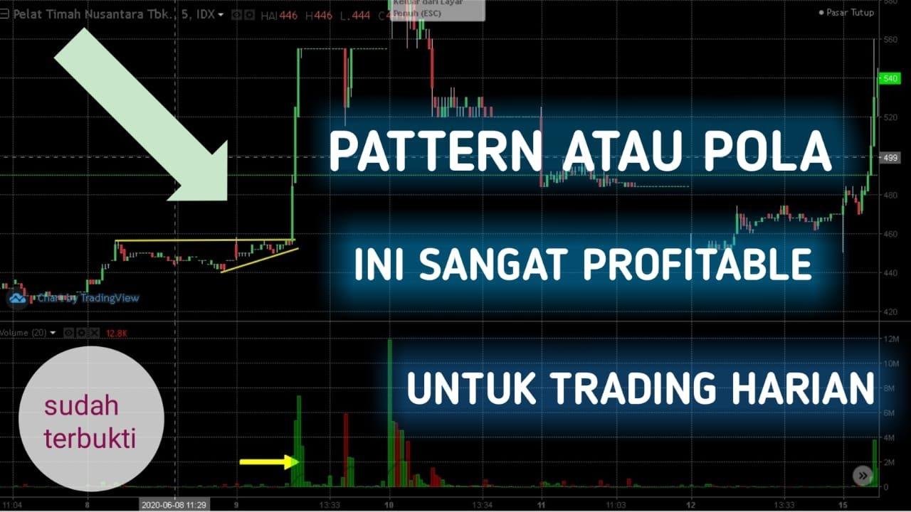 Pattern bullflag, pattern atau pola terbaik untuk trading harian | Trading saham harian