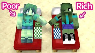 Monster School : Baby Zombie Rich and Poor - Life Story - Minecraft Animation