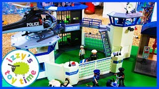 Cars ! Playmobil Police Headquarters! Fun Toys