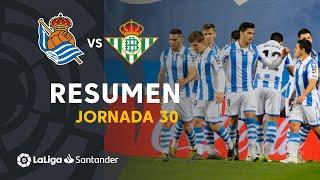 Resumen de Real Sociedad vs Real Betis (2-1)