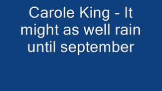 Carole King - It might as well rain until september.wmv