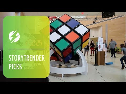 World's Largest Rubik's Cube Is As Tall As Average Human