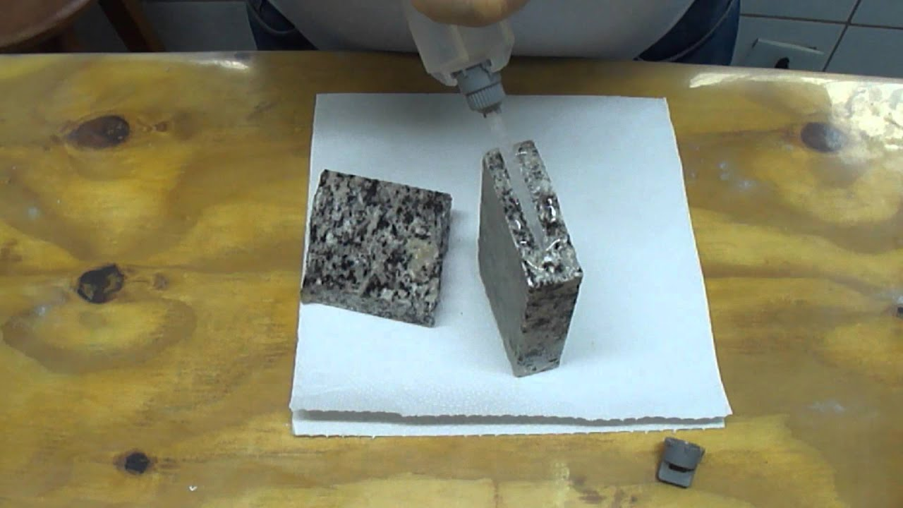 Como colar reparar pe as de m rmore e granito que for Tipos de granito para encimeras