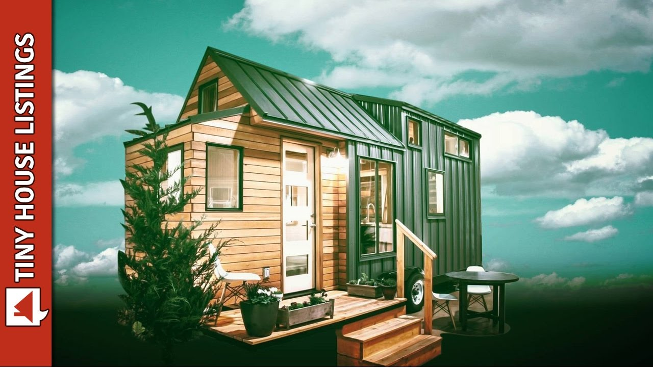 High end tiny house with folding deck youtube for High end tiny house