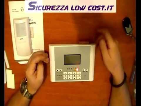 [SLC] - Antifurto - Recensione kit allarme GSM Wireless 433mhz Best Alarm B1 ( YL007 M2C )