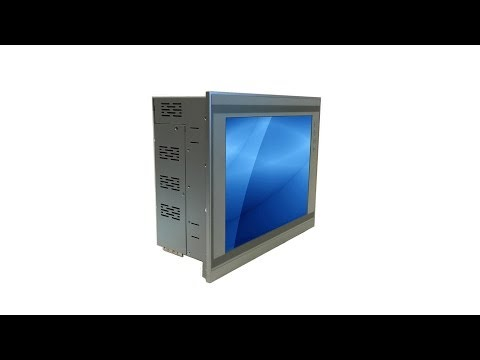 PC8227 - Panel PC with 12 inch touch LCD screen and 2 PCI or PCI express slots