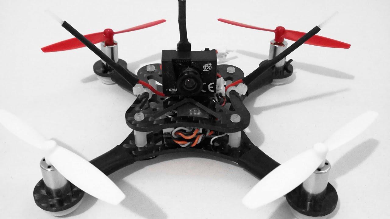 120mm Carbon Fiber DIY Micro Mini FPV Quadcopter Frame on 2s - YouTube