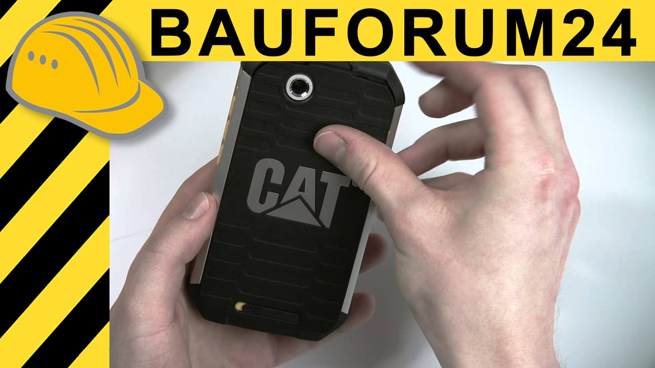 cat b15 unboxing outdoor handy von caterpillar im ersten hands on test youtube. Black Bedroom Furniture Sets. Home Design Ideas