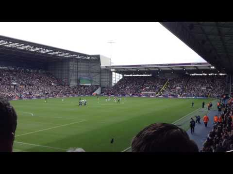 West Brom fans sing the Liquidator v West Ham