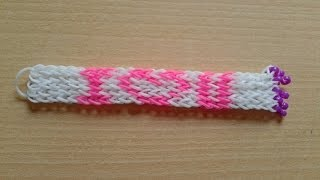 Repeat youtube video ♥ Tutorial: pulsera de gomitas con nombre (con tenedores) ♥