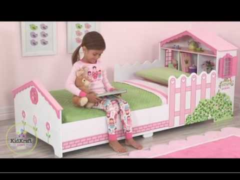 Kidkraft Dollhouse Toddler Bed - YouTube