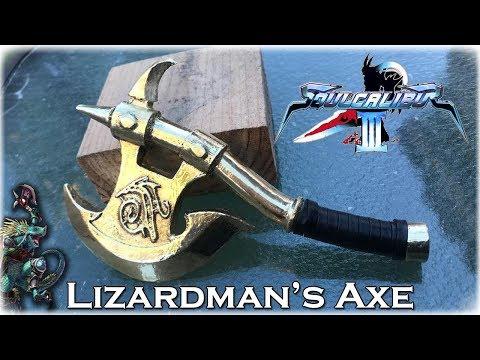 MINI Brass Casting Lizardman's Axe - Soul Calibur 3: DIY