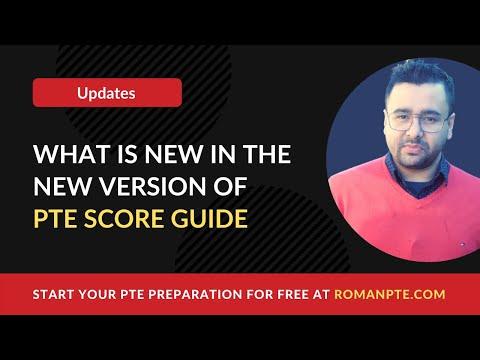 PTE Score guide version 10 (2019)
