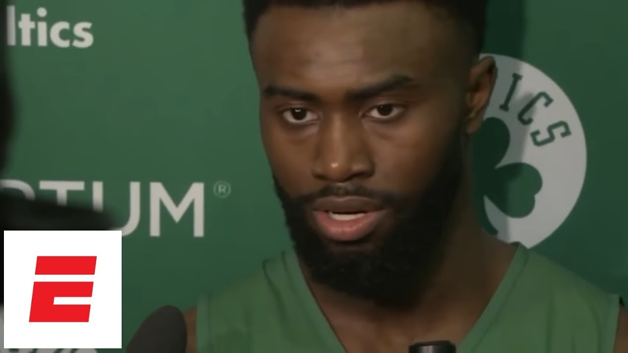 [FULL] Jaylen Brown explains how Celtics were able to overcome LeBron James' huge Game 2 | ESPN