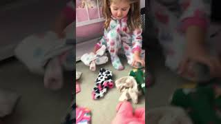 Penny playing with Sophie's reborn 🙊