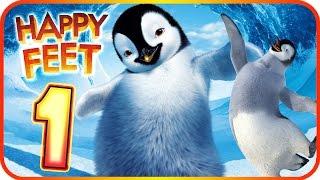 Happy Feet Walkthrough Part 1 (Wii, PS2, PC, Gamecube) ♬ Movie Game ♩ Level 1 - 2 - 3