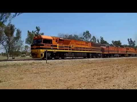 Freight Train From Darwin Leaving Alice Springs Northern Territory