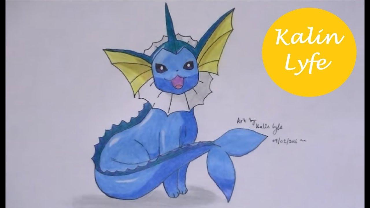 Uncategorized How To Draw Vaporeon vaporeon water pokemon drawing ep37 youtube