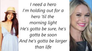 Glee - Holding Out For A Hero Lyrics