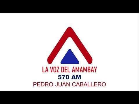 Radio La Voz Del Amambay 570 kHz - Pedro Juan Caballero (Paraguay) -  Maio de 2021