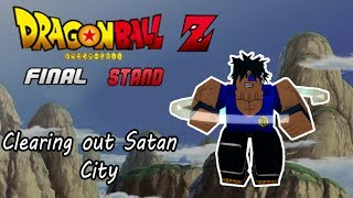 Roblox - Dragon Ball Z Final Stand Despejando la ciudad de Satanás